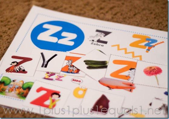 Home Preschool Letter Z -6705
