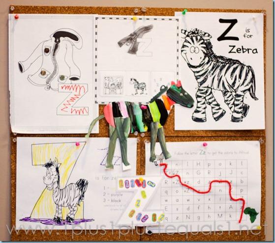 Home Preschool Letter Z -6748
