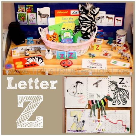 Home Preschool Letter Z