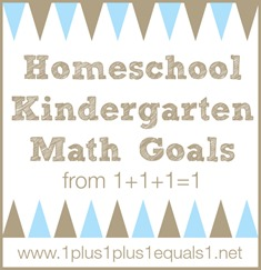 Homeschool Kindergarten Math Goals
