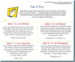 Integrity Time Prayer Cards