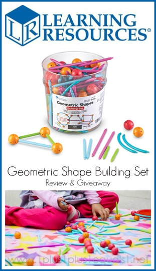 Learning Resources Geometric Shape Building Set Review and Giveaway