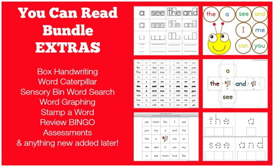 You Can Read Bundle Extras