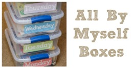 All By Myself Preschool Quiet Time Boxes