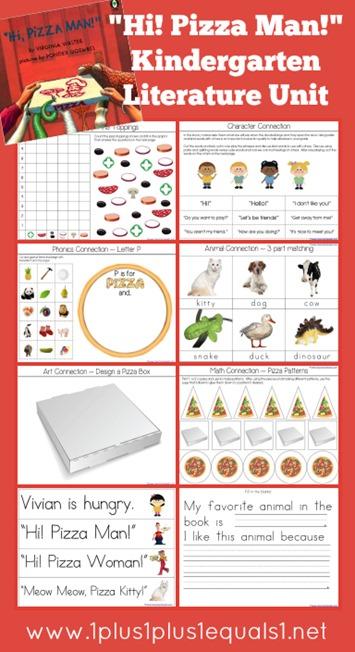Hi Pizza Man Kindergarten Literature Unit Printables