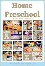 Home Preschool A to Z from www.1plus1plus1equals1.net