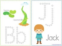 Jack and the Beanstalk Q-tip Printables