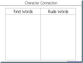 Kind Words Printable Activity
