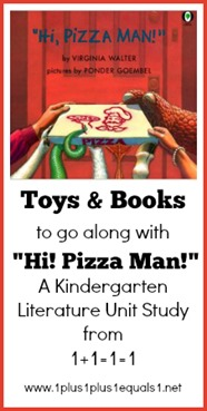 Toys and Books to go along with Hi Pizza Man Kindergarten Unit