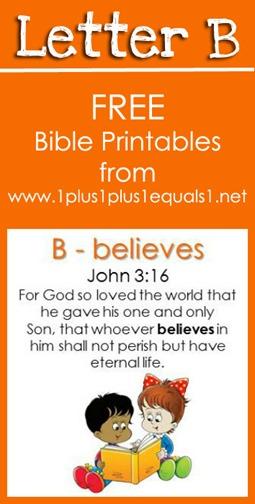 RLRS Letter B John 3 16 Bible Verse Printables
