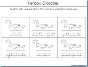Color Word Crocs