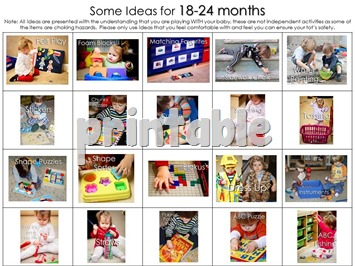 Tot School Baby Play Ideas Ages 18-24 Months