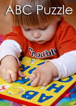 Tot School Ideas 18-24 Months -- Foam ABC Puzzle from www.1plus1plus1equals1