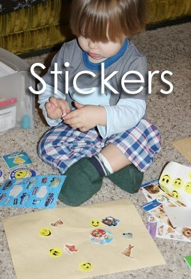 Tot School Ideas 18-24 Months -- Stickers