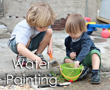 Tot School Ideas 18-24 Months -- Water Painting