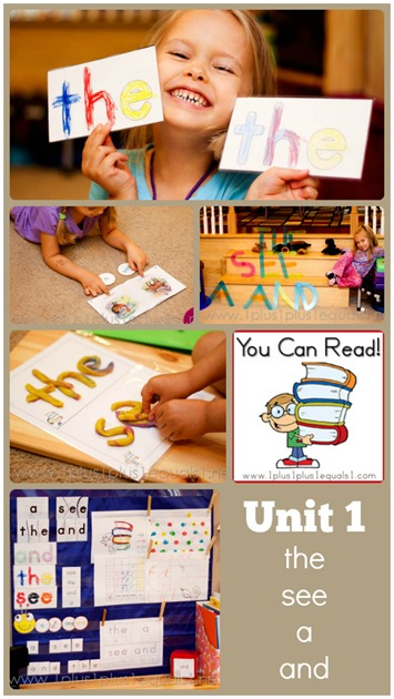 You Can Read Sight Words ~ Unit 1
