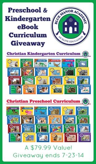 Blue Manor Preschool and Kindergarten eBook Giveaway