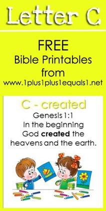 RLRS Letter C Genesis 1 1 Bible Verse Printables