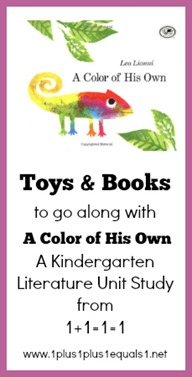 Toys and Books to go along with A Color of His Own Kindergarten Unit