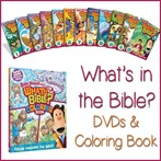 What's in the Bible DVDs and Coloring Book