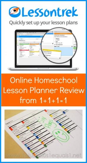 Lessontrek Online Homeschool Planner Review