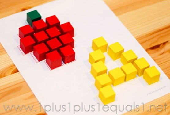 A is for Apple Activity Using Cubes