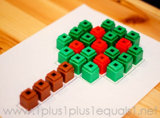 Apple Tree Activity Using Cubes