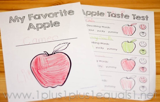 Apple Taste Test Printables
