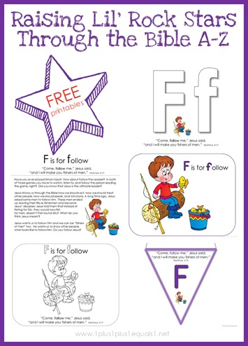 Bible Verse Printables Letter F