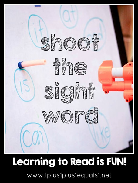 Shooting Sight Words with a Nerf Gun!  Great Word Fun for Kids!