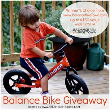 Balance Bike Giveaway FB