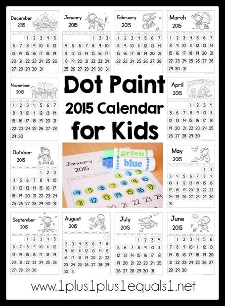 Dot Paint 2015 Calendar for Kids