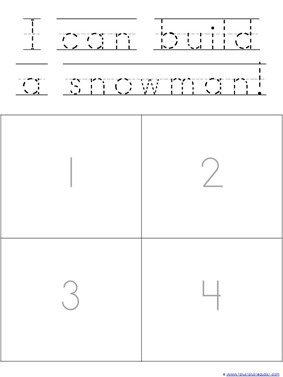 photograph about Sequencing Pictures Printable identify Snowman Sequencing Printables - 1+1+1\u003d1