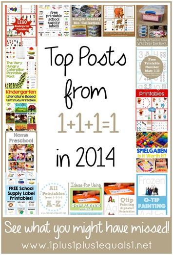 Top Blog Posts in 2014 from www.1plus1plus1equals1.net