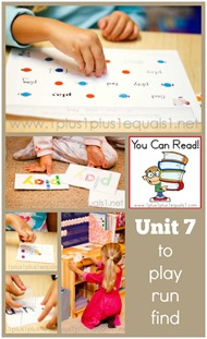 You Can Read Sight Words Unit 7