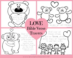 Love Bible Verse Coloring and Tracing