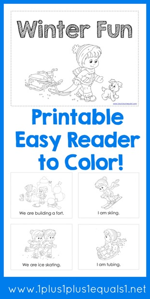 Printable Winter Fun Easy Reader