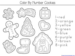 Color by Number Cookies