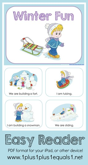 Winter Fun Digital Easy Reader