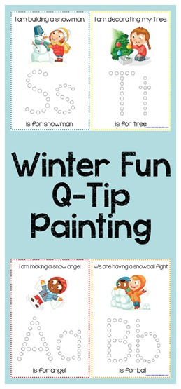 Winter Fun Q-Tip Painting Printables