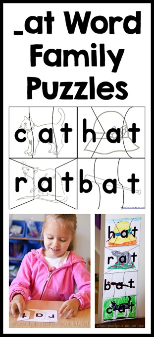 _at Word Family Printable Puzzles