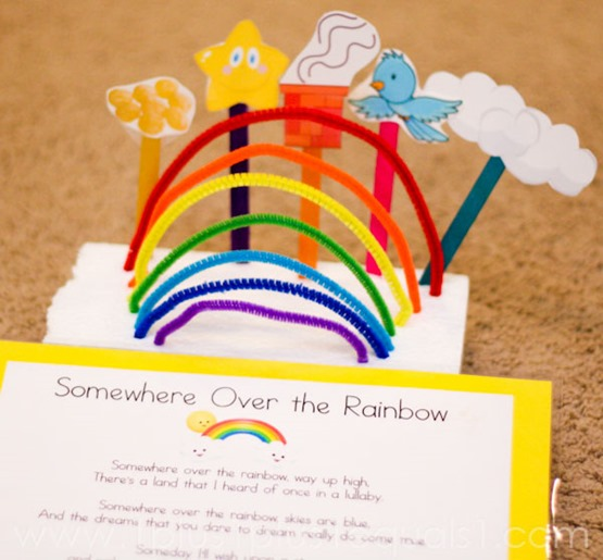 Somewhere Over the Rainbow Craft