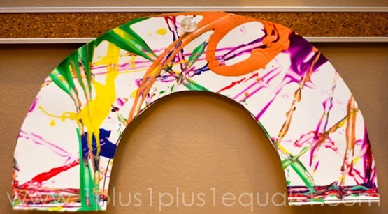 Marble Painted Rainbow Craft