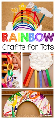 Rainbow Crafts for Tots and Preschoolers