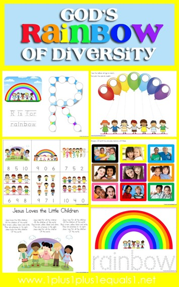 Rainbow of Diversity Printables