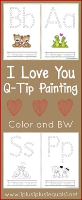 Valentine's Day Q-Tip Painting