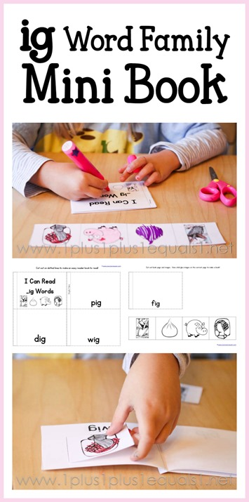 ig word family mini book free printable
