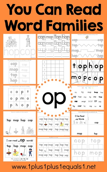 op Word Family Printables