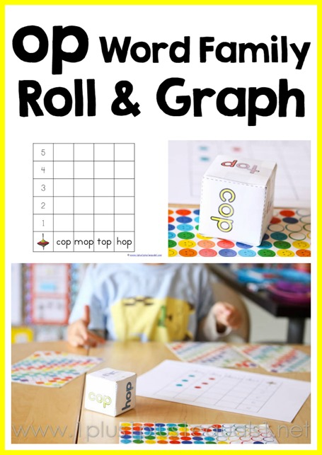 op word family roll and graph free printable