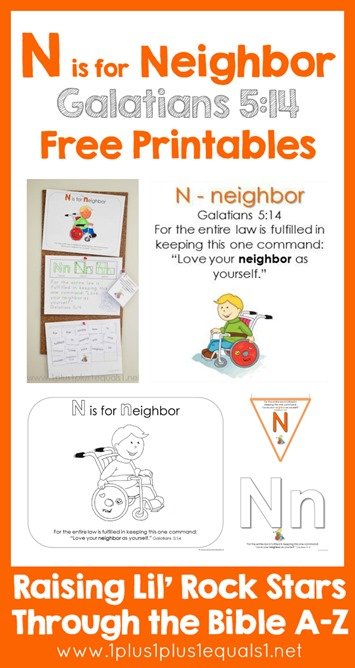 Bible Verse Printables N is for Neighbor